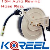 Koreel Heavy Duty Air Hose Reel With 15M of 9mm Hose with Nitto Fitting