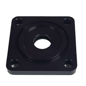 Electric Cannon Worm Drive End Cap - Black Anodised Aluminium