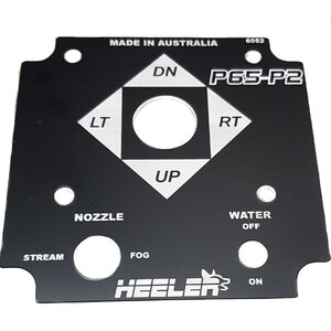 Control System - Faceplate P65-P2 Heeler Water Canon